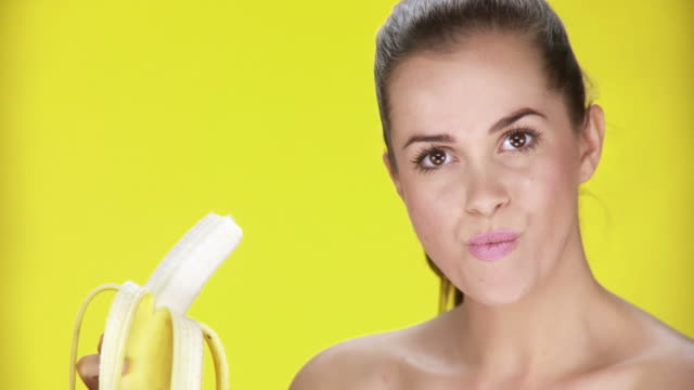 HD: Woman Eating A Banana video