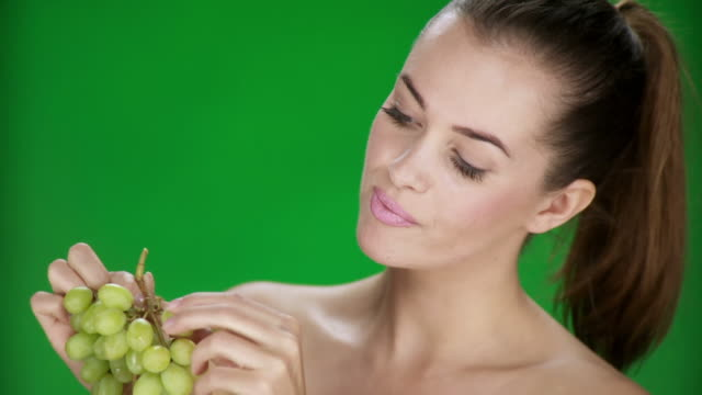 HD: Woman Eating Grape video