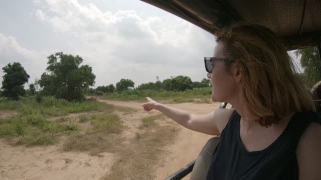 MS Woman enjoying safari,Sri Lanka