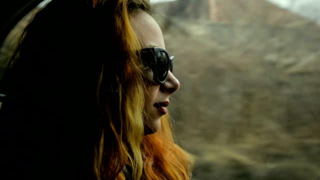 Woman enjoying the ride video