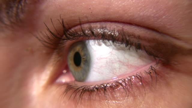 Woman eye macro video