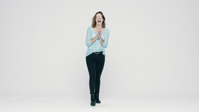 Woman feeling excited