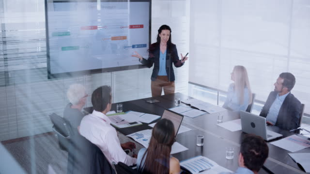 Woman giving a presentation in the conference room