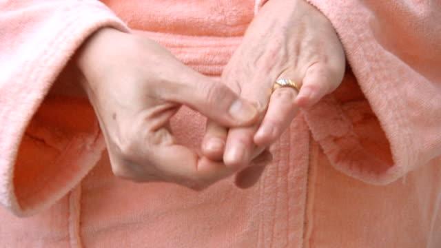 Woman Hands in  Arthritis Pain video