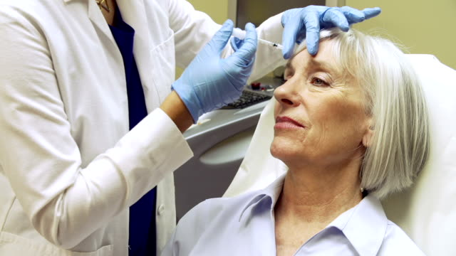 Woman Having Botox Treatment At Beauty Clinic video
