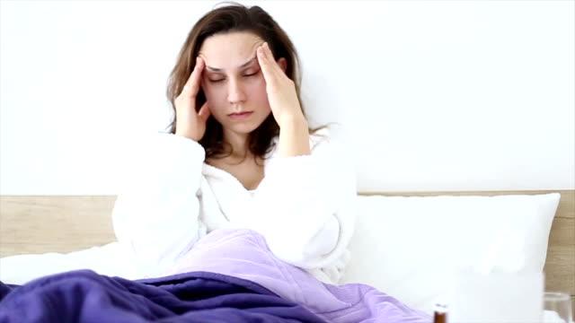 Woman having flu video