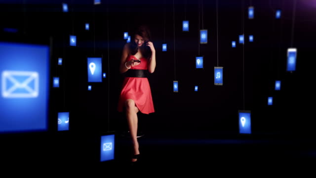 Woman in a red dress video