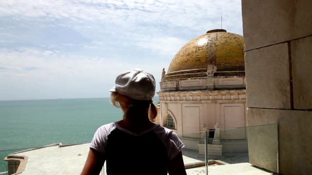 Woman in Cadiz Spain video