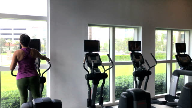 Woman in Gym video