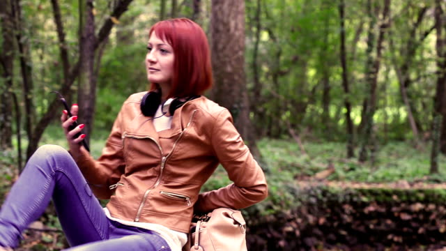 woman in nature video