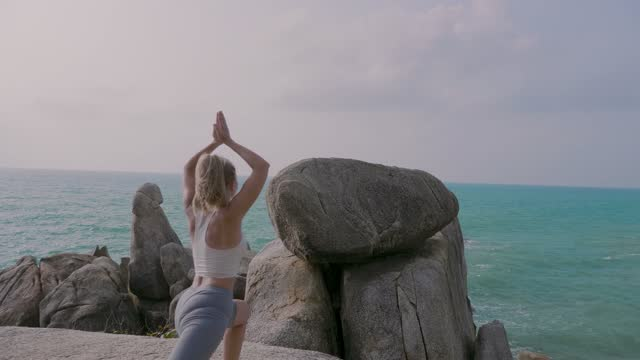 Woman in Yoga Pose video