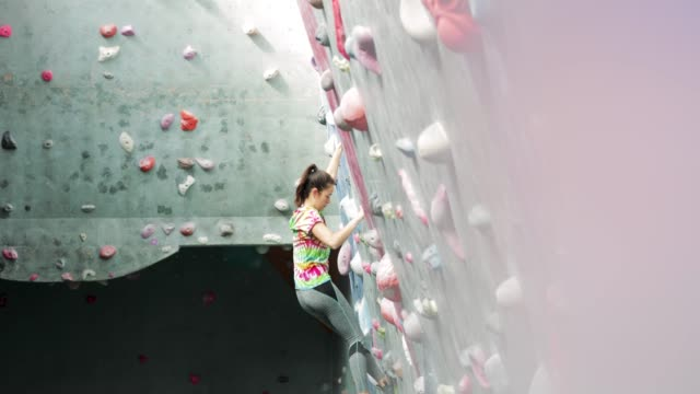 Woman Indoor Climbing video
