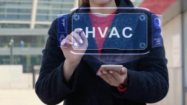 kvinna interagerar hud vvs - kvinna ventilationssystem bildbanksvideor och videomaterial från bakom kulisserna