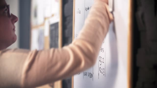 kvinnan raderar whiteboard - whiteboardtavla bildbanksvideor och videomaterial från bakom kulisserna