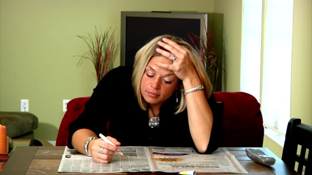 Woman Job hunting