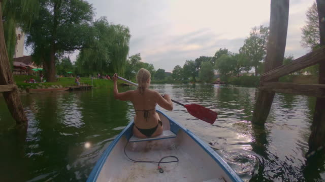 WS Woman kayaking on the river