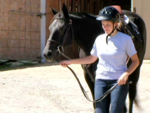 Woman Leading Horse video