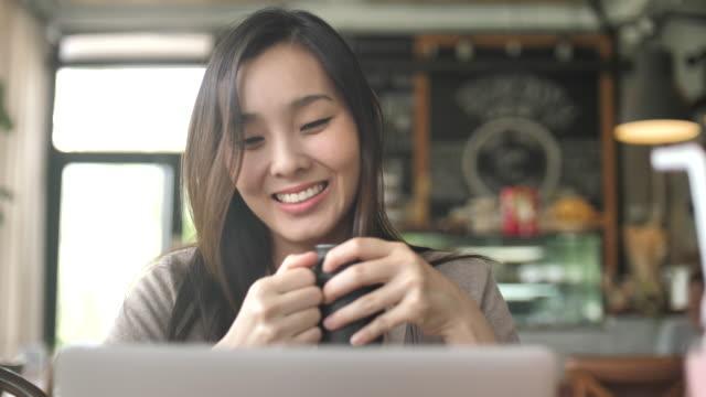 Woman Looking on Laptop video