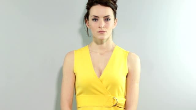 Woman looking upset video