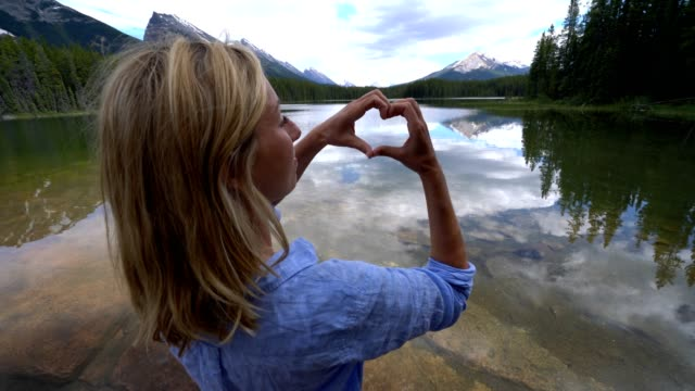 Woman loving nature in Canada video