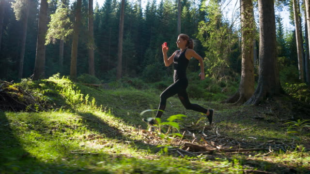 Woman on a morning jog video