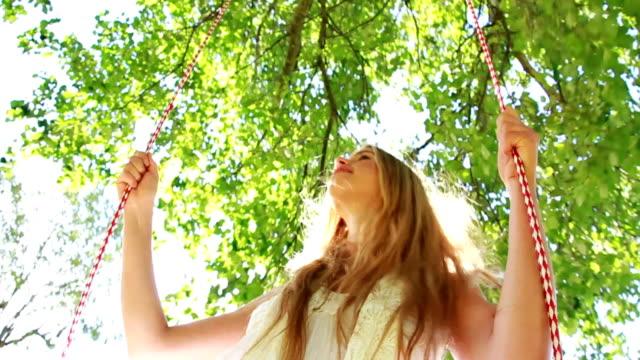 Woman On A Swing In Slow Motion video