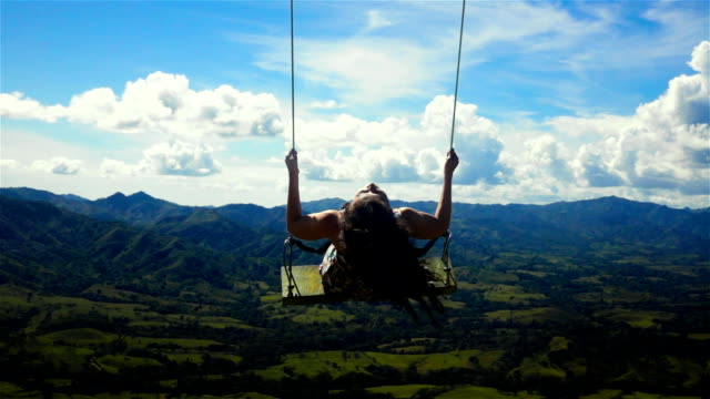 Woman on a swing video