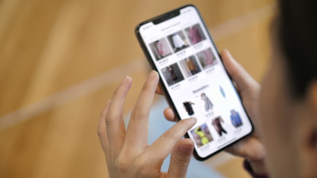 Woman online Shopping on Smart phone