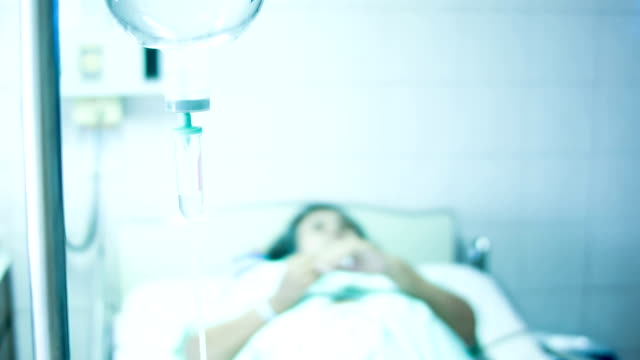Woman patient in hospital. video