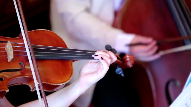 Woman playing the violin video