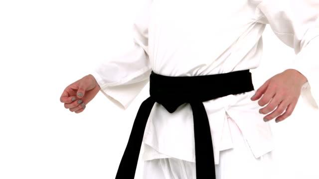 Woman practising karate video