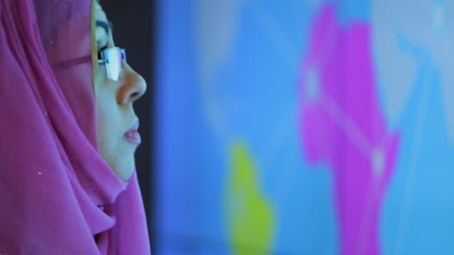 woman preparing a presentation - innovation video stock e b–roll