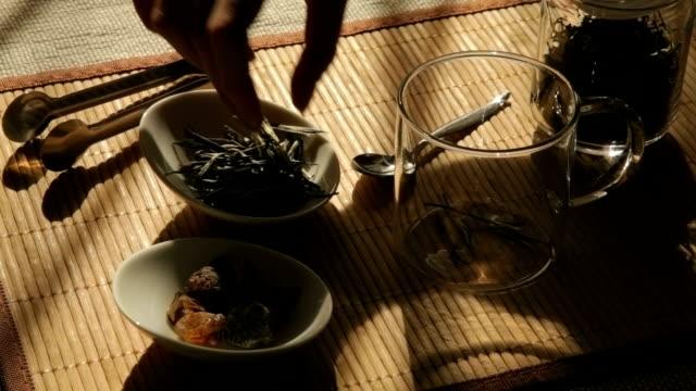 Woman preparing Green tea video