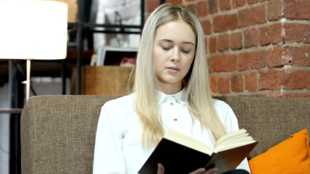 Woman Reading Book video