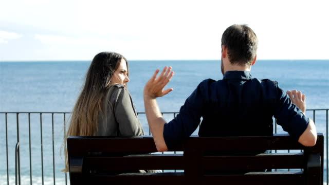 woman rejecting a friend in first date - negacja filmów i materiałów b-roll