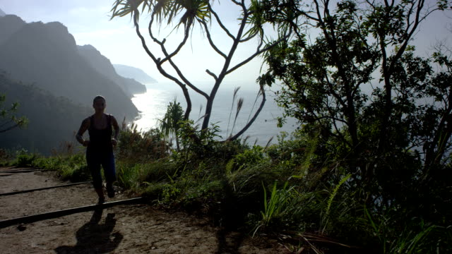 Woman Running in Tropical Hawaii video