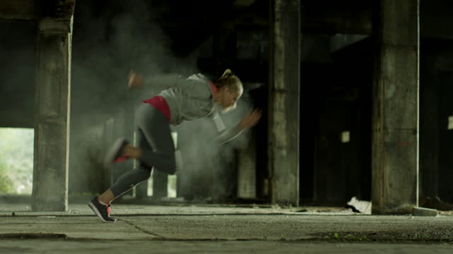 Woman running video