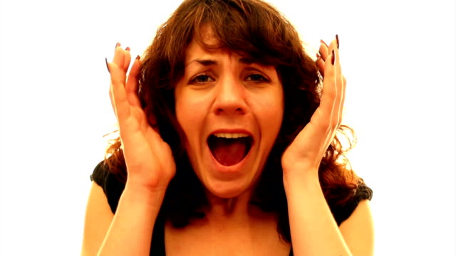 Woman screaming video