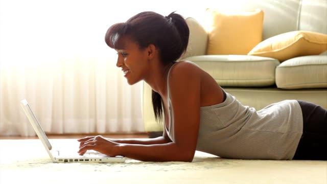 Woman sending e-mail video