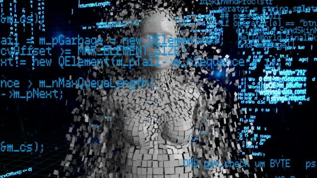 woman shattering - rappresentazione umana video stock e b–roll