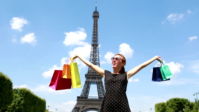 Woman shopping in Paris