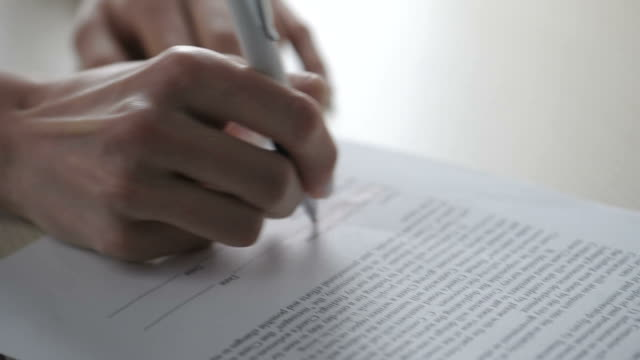 Woman Signing Contract; HD Photo JPEG video