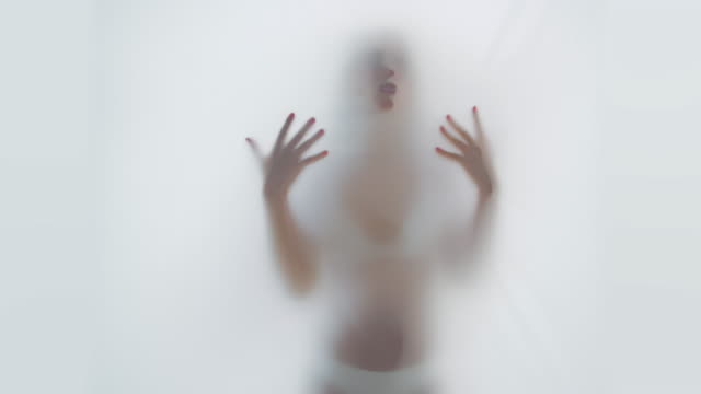 Woman silhouette video