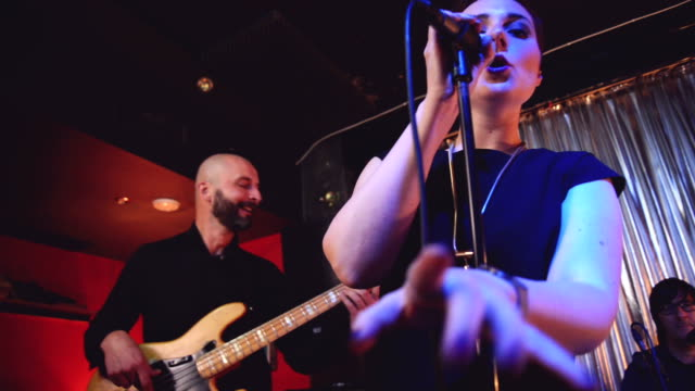 Woman singing video