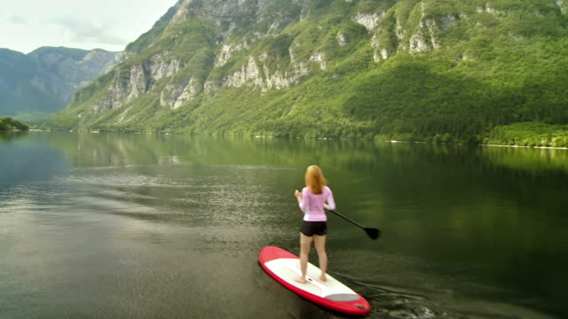 Woman Stand Up Paddle Surfing video