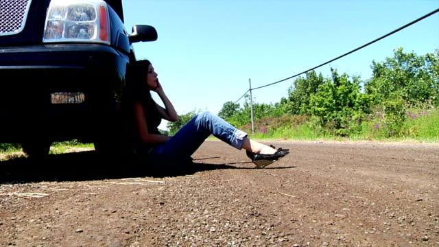 Woman Stranded On Roadside video