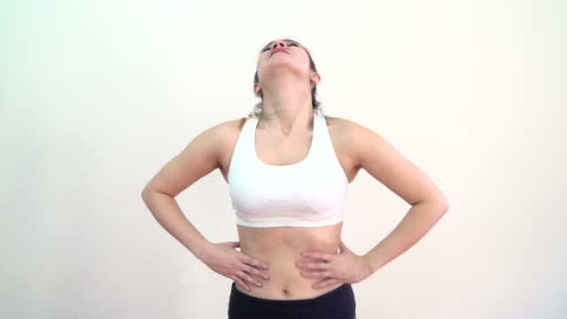 Frau leiden Bauchweh – Video