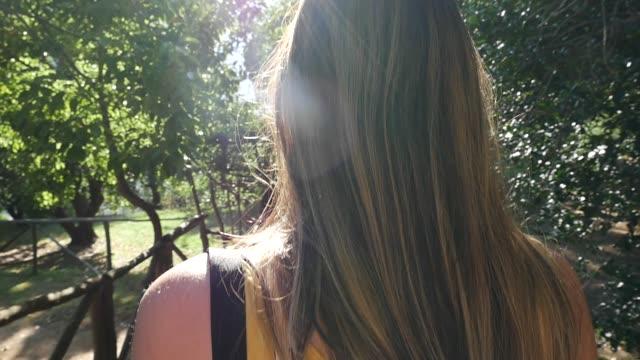 Woman tourist exploring Ravello, Italy video