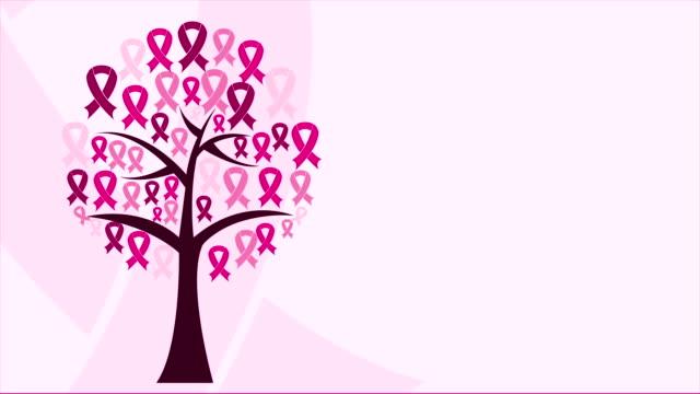 kobieta drzewo animacja wideo - breast cancer awareness filmów i materiałów b-roll