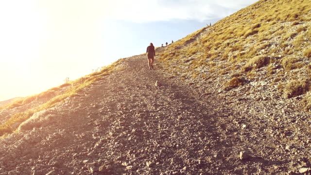 Woman trekking alone video